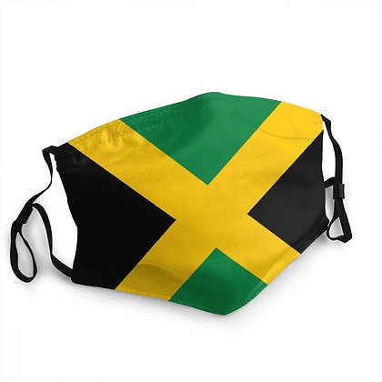 Washable Jamaican Flag Face Mask Jamaica Patriotism and Protection Mask