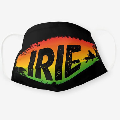 IRIE Jamaican Patois Rasta Colored Palm Trees Adult Cloth Face Mask