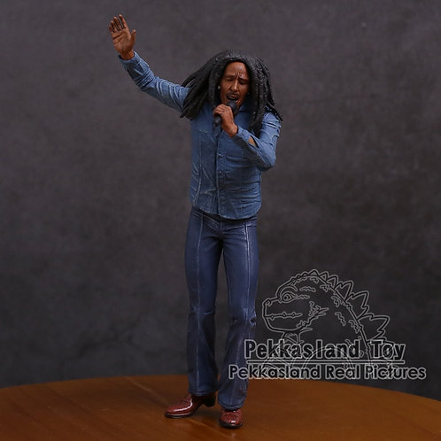Bob Marley Music Legends Jamaica Singer & Microphone  Action Figure Collectible