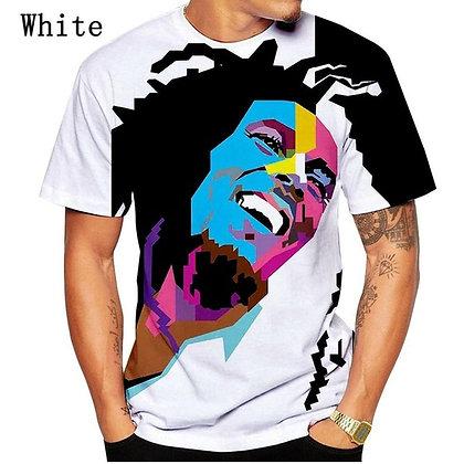 NEW fashion BOB MARLEY cool designe 3D Printed t shirt Men/Women Good Quality T