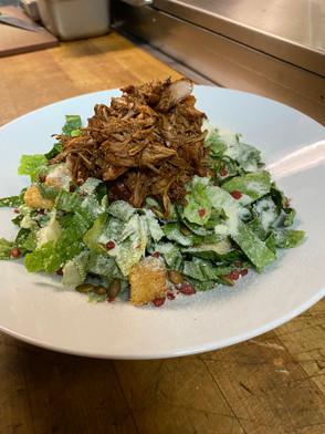 BBQ Jerk Chicken Cesar Salad