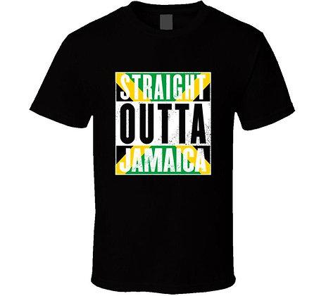 Straight Outta Jamaica. Jamaican T-Shirt Men Trendy Hot Sale High Quality