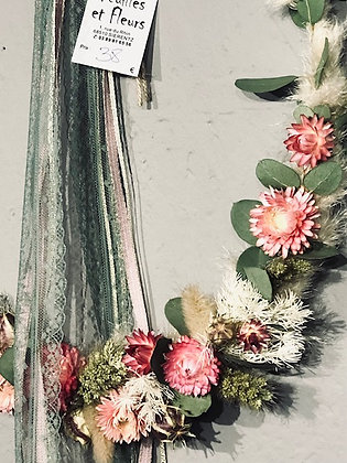 Cerceau de fleurs sechées 6