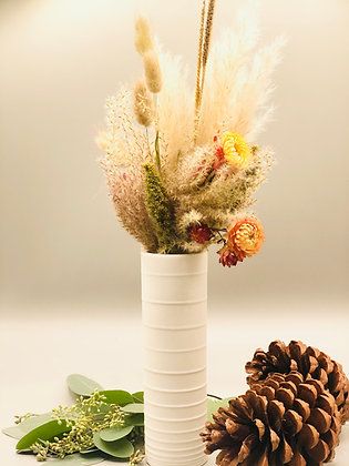 Bouquet orangé avec vase