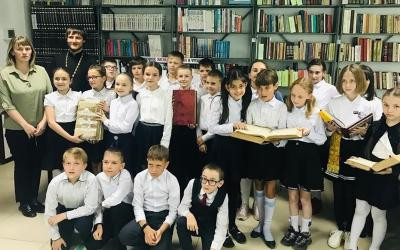 Священник рассказал школьникам о значении книг