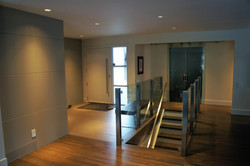 open design with glass rails