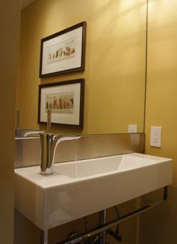 contemporary industrial bathroom