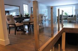 see-through glass railings
