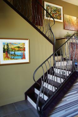 custom railing on stairs