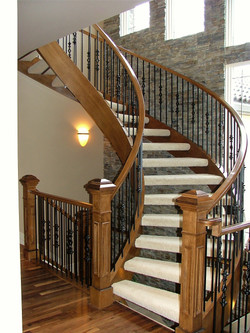 dramatic curved stairwell