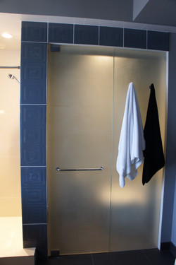 frosted glass shower doors