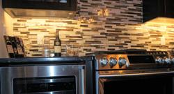tile backsplash creates interest