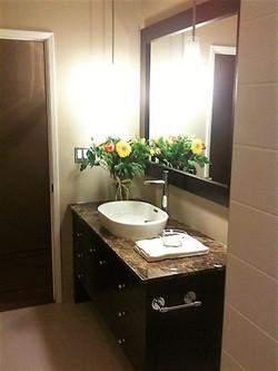 half bath granite countertop