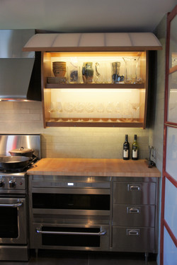 lighted kitchen cupboards