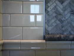 tile highlights in bathroom