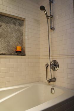 sophisticated bathtub/shower
