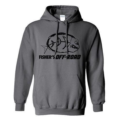 Fisher's Off-Road Black Logo Hoodie - 3XL & 4XL & 5Xl