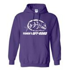 Fisher's Off-Road White Logo Hoodie - 3XL & 4XL & 5XL