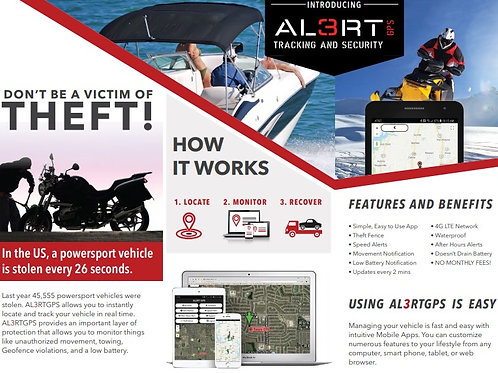 AL3RT Powersports GPS w/ 3 Years of Airtime