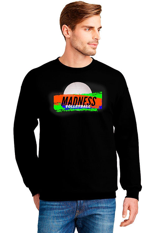 Crew Neck Black Sweatshirt-Unisex