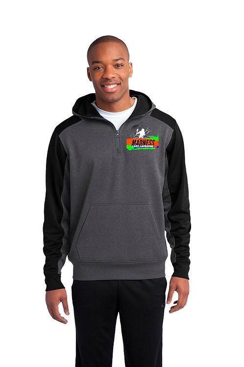 Unisex 1/4 zip Hooded Sweatshirt- PERFORMANCE