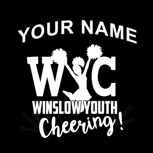 Winslow Youth Cheering Window Decal