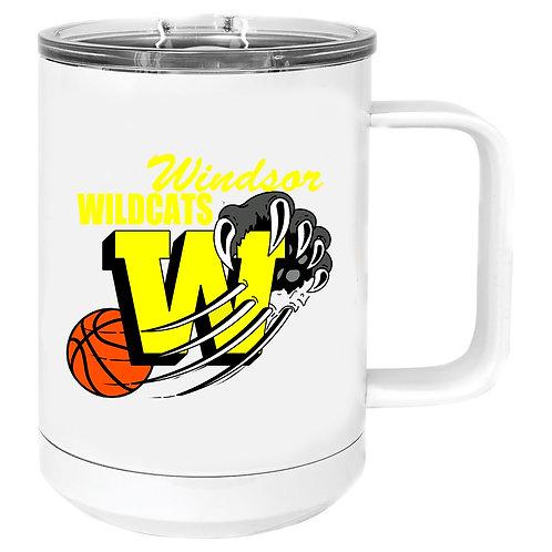 WINDSOR BASKETBALL 15 OZ POLAR CAMEL TRAVEL MUG