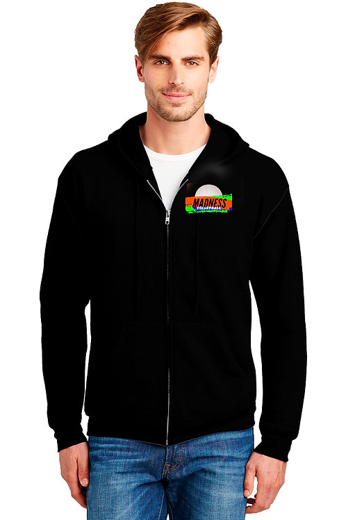 Full Zip Hoody Sweatshirt-Cotton/Poly