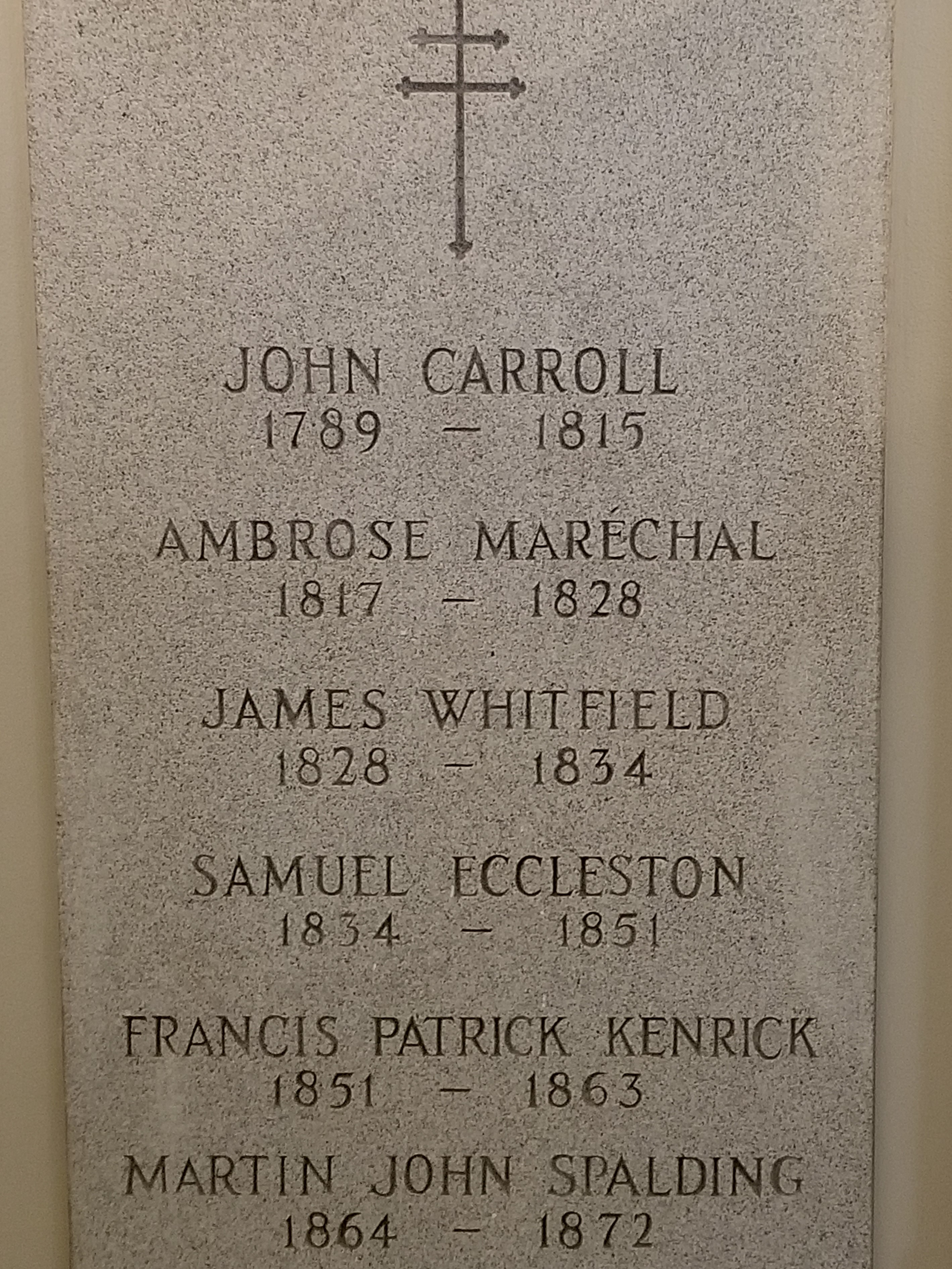 Basilica Crypt, 1st U.S. Bishops