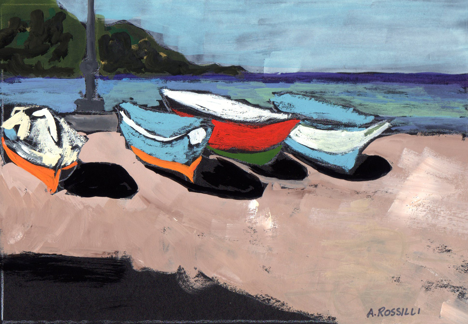 Boats on Beach-Castellabate, Itay