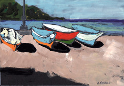 Boats on Beach-Castellabate, Itay