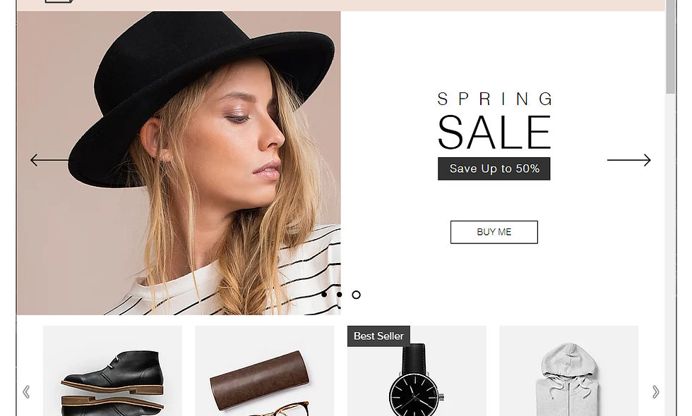Ecommerce Template Site 4