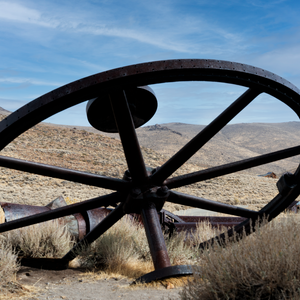 Old Mining Town Remnants in Bodie, CA