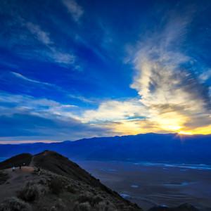 Sunset from Zabriskie Point in Death Valley
