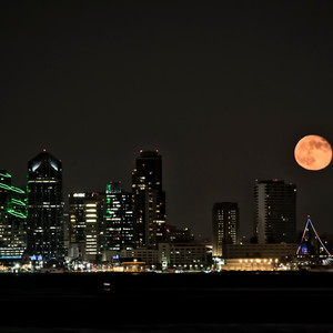 Moon Rise Over San Diego