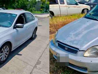 Recuperan vehículos Honda y Volkswagen con reporte de robo