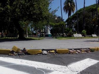 Vecinos reportan daños en el Jardín Juárez