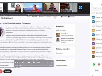 "presenta plataforma ""Red Estatal de Artistas Colimenses"""