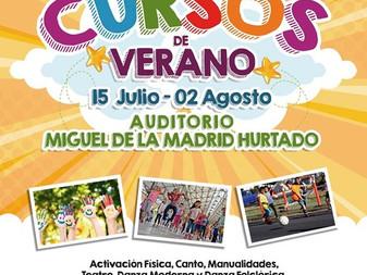 Ofrecen cursos de verano en el Auditorio Miguel de la Madrid Hurtado