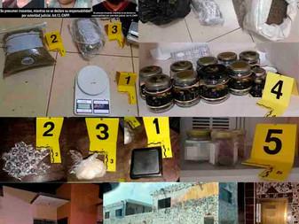 En cateos a viviendas de Manzanillo y VdeÁ asegura droga; hay tres detenidos