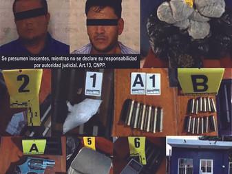 En Valle de las Garzas, aseguran droga y arma de fuego