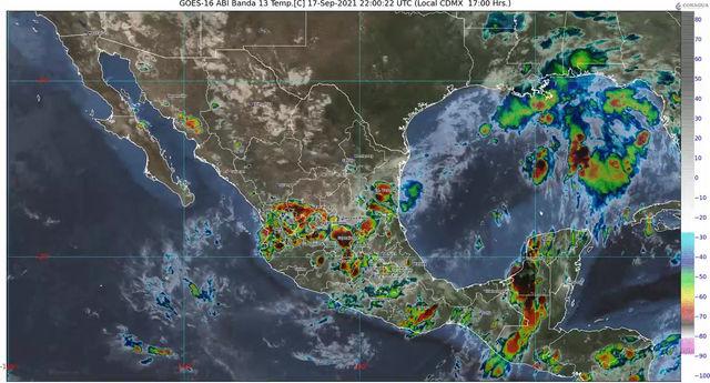Para las próximas horas se pronostican lluvias en zonas de Guerrero, Jalisco y Michoacán
