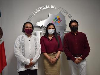 Se registra Indira Vizcaíno como candidata de Morena y NA a la gubernatura de Colima
