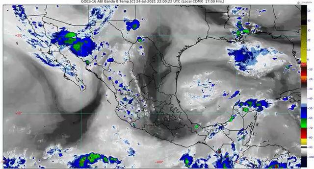 Durante las próximas horas, se pronostican lluvias fuertes para Colima, Jalisco, Michoacán y Nayarit