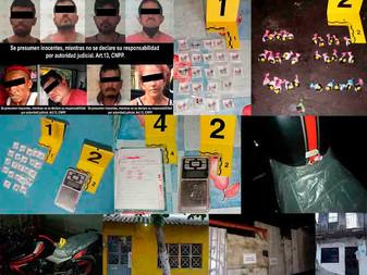 En cateos en Tecomán y Manzanillo, detienen a 8 personas e incautan más de  70 dosis de droga