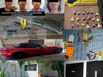 En Colima y Villa de Álvarez, detienen a cuatro hombres e incautan droga