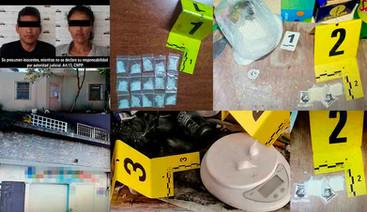 En cateos a viviendas de VdeÁ y Manzanillo, Aseguran droga y detienen a dos personas