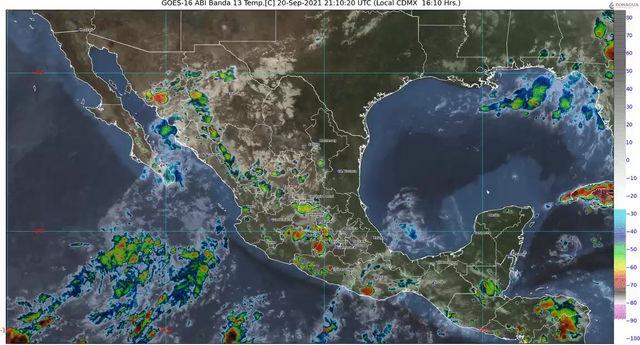 Para las próximas horas se pronostican lluvias para Colima y Jalisco