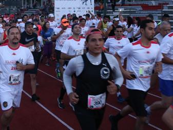 La Policía Federal y el comité olímpico mexicano realizan la carrera-caminata 5 km