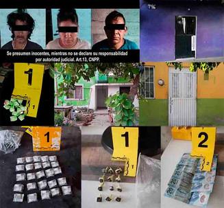 En cateos aseguran droga e inmuebles; hay 3 detenidos